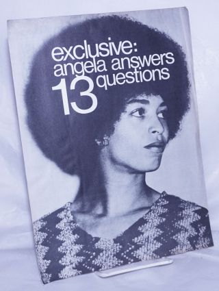 Exclusive: Angela answers 13 questions. Angela Davis