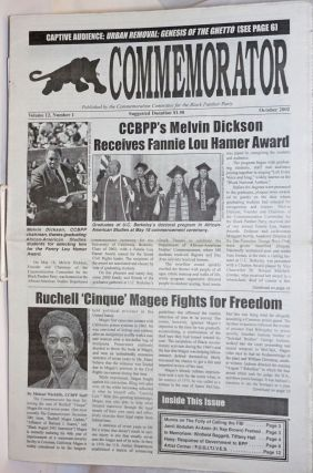 The Commemorator. Vol. 12 no. 1 (October 2002