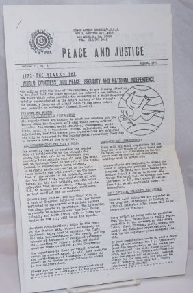 Peace and justice. Vol. 2 no. 8 (August, 1973