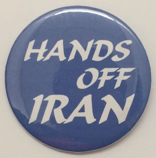 Hands off Iran [pinback button