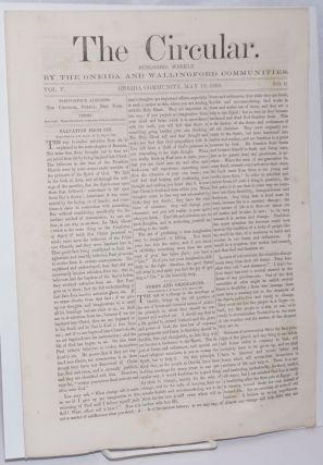 The Circular: Published Weekly by the Oneida and Wallingford Communities; Vol. 5, No. 9, May 18,...