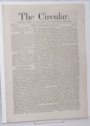 The Circular: Published Weekly by the Oneida and Wallingford Communities; Vol. 7, No. 15, June...