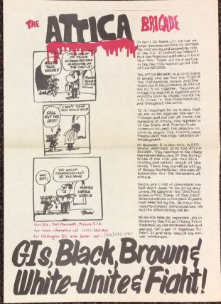 The Attica Brigade / GIs, Black, Brown & White - Unite & Fight! [broadsheet