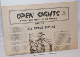 Open sights: a paper for people in the military. (June 1972