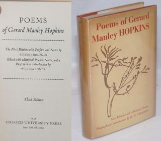 Poems of Gerard Manley Hopkins: New editions with additional poems. Gerard Manley Hopkins,...