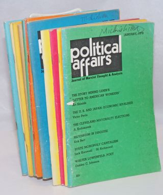 Political affairs, theoretical journal of the Communist Party, USA. Vol. 49 no. 1, January, 1970...