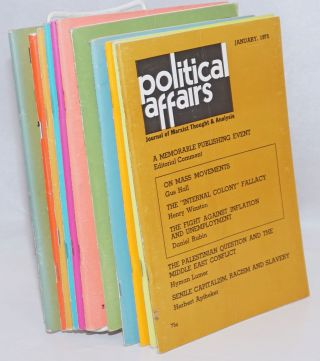 Political affairs, journal of Marxist thought. Vol. 54, no. 1, January, 1975 to no. 12, December...