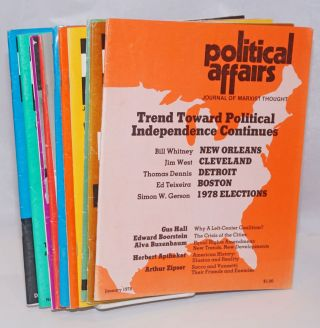 Political affairs, theoretical journal of the Communist Party, USA. Vol. 57, no. 1, January, 1978...