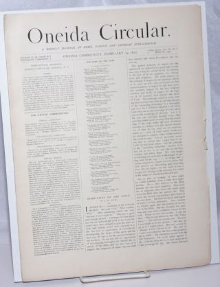 Oneida Circular: A Weekly Journal of Home Science and General Intelligence New Series Vol. 9, No....