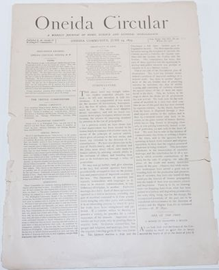 Oneida Circular: A Weekly Journal of Home, Science and General Intelligence New Series Vol. 12,...