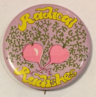 Radical Radishes [pinback button