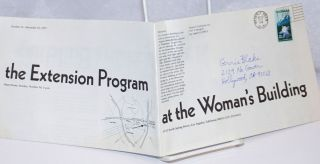 The Extension Program at the Women's Building; October 16-December 10, 1977