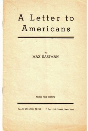 A letter to Americans