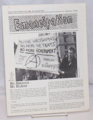 Emancipation: formerly the Anarchy Times; Vol. 5, No. 6, (No. 37), July 1982-4th Anniversary Issue!