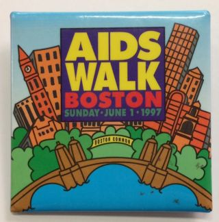 AIDS walk / Boston / Sunday, June 1, 1997 [pinback button