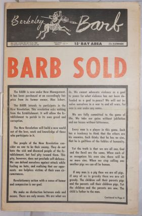 Berkeley Barb, vol. 9, no. 3, issue 205, July 16 - 24, 1969. Allan D. Coult, ed, Tim Leary