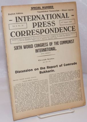 International press correspondence; English edition, vol. 8, no. 50. 16th August 1928. Special...