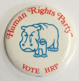 Human Rights Party / Vote HRP [pinback button
