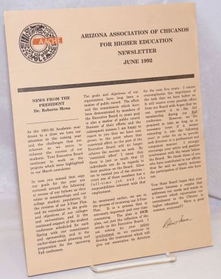 Arizona Association of Chicanos for Higher Education: Newsletter, June 1992