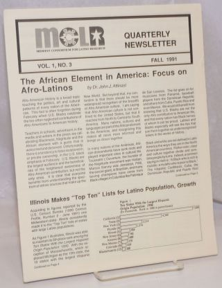 MCLR: Midwest Consortium for Latino Research, Quarterly Newsletter; Vol. 1, No. 3, Fall 1991
