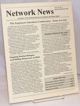 Network News: Newsletter of the National Network for Immigrant and Refugee Rights; Vol. 6 No. 1,...