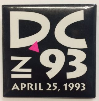 DC in 93 / April 25, 1993 [pinback button