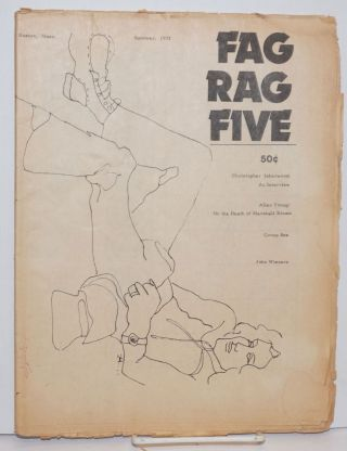 Fag Rag #5 Summer 1973. Christopher Isherwood, John Mitzel, Arthur Bell