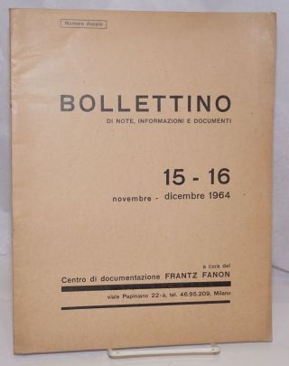 Bollettino di note, informazioni e documenti. 15/16 (Nov.-Dec. 1964