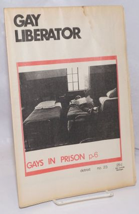 Gay liberator [aka Detroit Gay liberator] vol. 1, #23, January, 1973; Gays in Prison