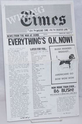 Wrong Times: news from the war at home. No. 2 (March 1991