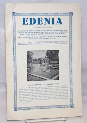 Edenia. Vol. 8 no. 31 (July-August-September 1958). Teofilo de la Torre