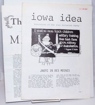 Iowa Idea: Newsletter of the Iowa Socialist Party [two issues