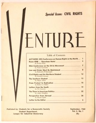 Venture. Vol. 2, No.1 (September, 1960). Special Issue: Civil Rights