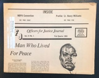 Officers for Justice Journal. Vol. 3 no. 1 (First quarter 1983