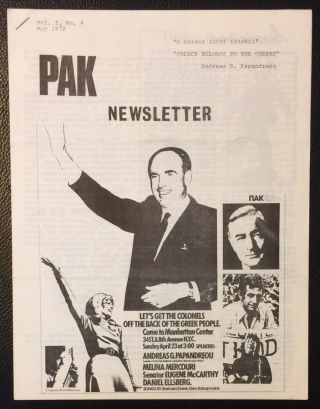 PAK newsletter. Vol. 1 no. 4 (May 1972