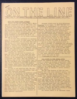On the line. Vol. I no. 3 (Dce. 1970). Young Workers Liberation League