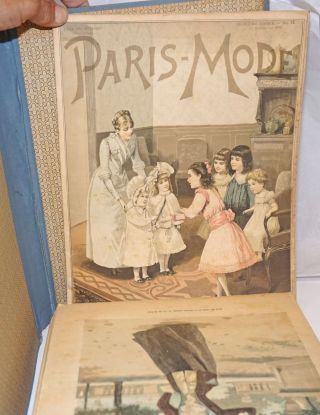 Paris-Mode, Journal de la Famille, paraissant le 5 et le 20 de chacque mois [earlier issues read le 1er et le 15 de chaque mois]. Second year, nos. 1-24, January 1 - December 20, 1891.