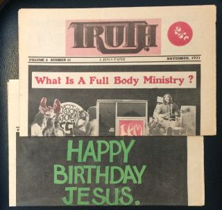 Truth: a Jesus paper [two issues