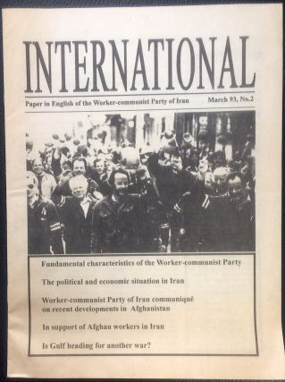 International: Paper in English of the Worker-communist Party of Iran. No. 2 (March 1993