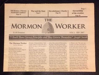 The Mormon Worker. Vol. 1 (Sept. 2007