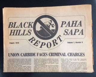 Black Hills / Paha Sapa Report. Vol. 1, no. 2 (August 1979). Black Hills Alliance of South Dakota