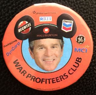 War Profiteers Club [pinback button