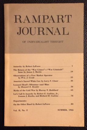 Rampart Journal of Individualist Thought. Vol. 2 no. 2 (Summer 1966