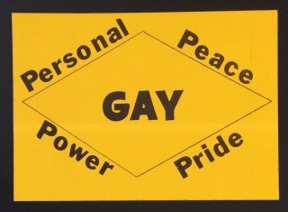 GAY / Personal / Peace / Power / Pride [sticker