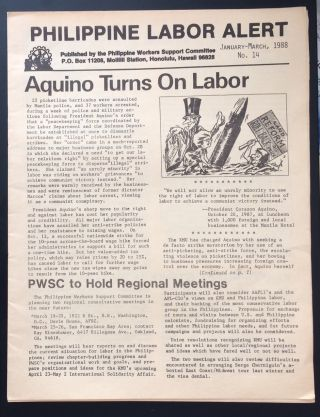Philippine Labor Alert. No. 14 (January-March, 1988