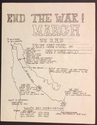End the war! March / Nov. 13, 14, 15 from San Jose to San Francisco [handbill