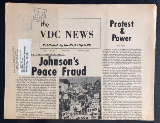 The VDC News, Vol. 1, No. 6 (January 28, 1966) Published by the Berkeley VDC