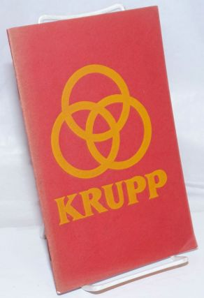 Fried. Krupp Aktiengesellschaft. Products