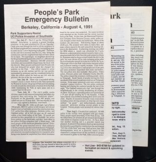 People's Park Emergency Bulletin [Nos. 1, 2, and 3