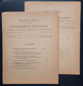 Bulletin of the Committee on Education, National Council of American-Soviet Friendship (two...